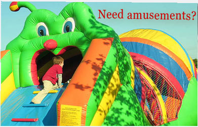 Call Premier Events for Amusement Rentals 340-2212